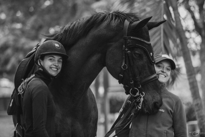 Laurence et Mathilde Blais Tétreault avec Utah/crédit photo Daphné Houle